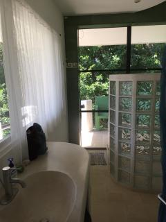 Jungle Bathroom with Side Access to Pool