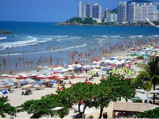 Apartamento pé na areia frente a Praia - Guarujá, Guaruja