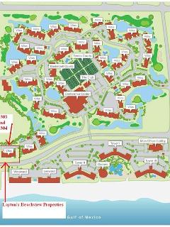 Map of Edgewater resort showing our location