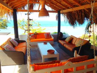 Outdoor thatched living area