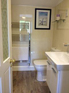 Weill equipped bathroom with large mains shower