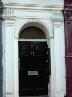 Communal front door with intercom access