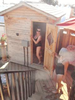 Another view of the Finnish Sauna...