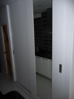 View on wand cupboard (both doors closed) with big mirror