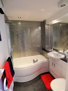 Bathroom with powerful shower