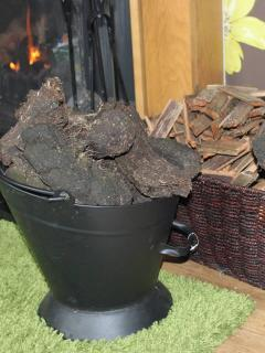 Supply of peat in back garden.
