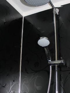 New split shower.