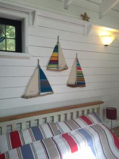 Boats over bed
