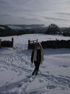 Winter walking towards Winster
