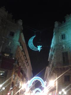 Luminarie per la festa di Santa Rosalia ai 4 Canti (a 250 metri dall'appartamento)