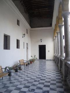 Il loggiato del palazzo Corvino Principe di Mezzoiuso