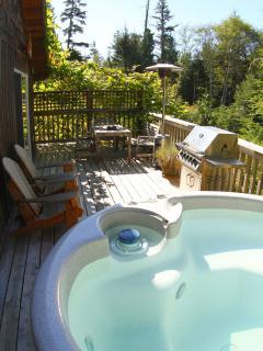 Hot tub & outside deck
