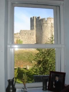 View of Chepstow Castle from kitchen window