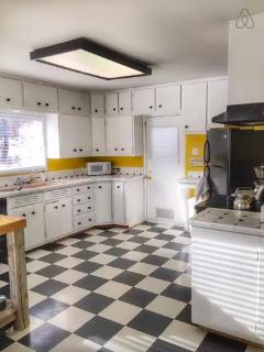 Large kitchen with modern appliances and plenty of storage space