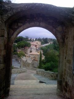 View of the village of Celleno from its castle.