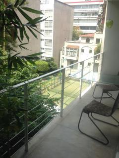 'Beautiful spacious terrace facing nature'
