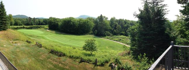 View of the 7th green of the LaBete Golf Course from upstairs balcony