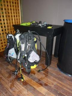 Dive equipment locker