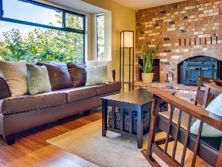 Stylish dog-friendly home w/ waterfront views & beach/dock access, Camano Island