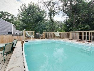 Dog-friendly clapboard home with private pool, hot tub, & outdoor shower, Edgartown