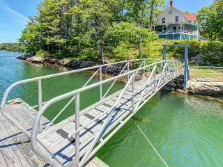 Historic manse with wraparound porch and private dock, West Bath