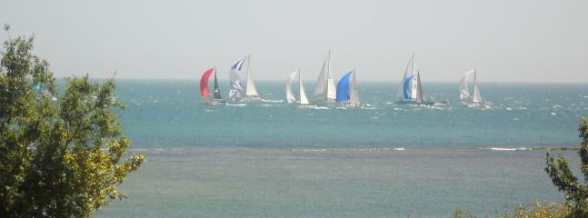 Round the Island race from the bedroom window
