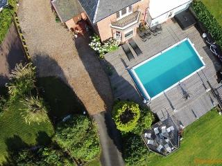 Northcliff Manor Aerial View of swimming pool and gardens