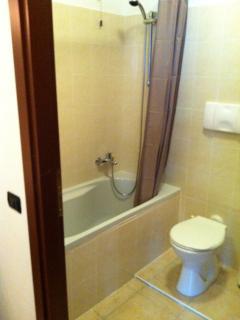 De hoge waterdruk maakt douchen prettig, maar ook een bad nemen is mogelijk. Er is ook een bidet.