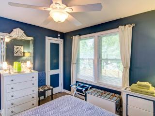 Sunny peaceful bedroom.
