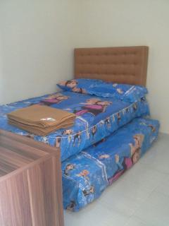 One of the bedrooms in Puncak Garuda villa