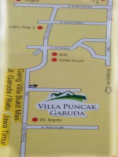 Map of Puncak Garuda villa
