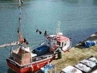 Trawler beneath Ferrymans Decks unloading