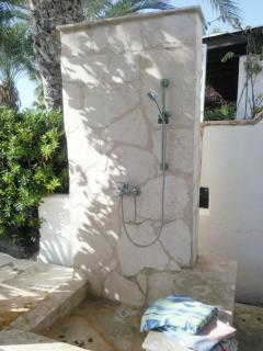 Outside shower for after beach
