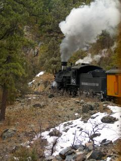 The Durango and SIlverton narrowgage Railroad runs daily throughout the year.