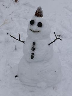 Snowman not provided. You'll have to build your own.