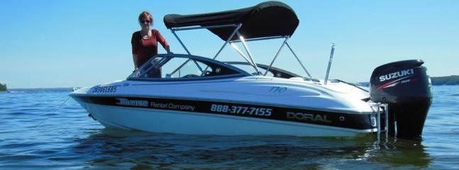 One of our rental boats