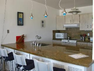 Fully equipped kitchen + eat-in counter top