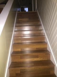 Walnut wood stairs- lovely!