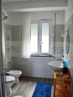 Il bagno grande con la doccia