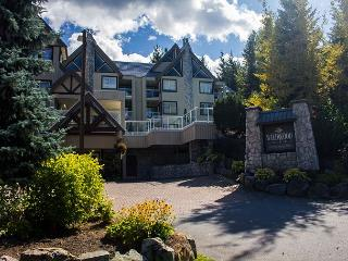 Cozy unit with firplace, nice big hot tub in complex, free parking & internet, Whistler