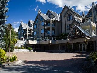 Clean well kept unit with private patio, free parking, big hot tub in lodge, Whistler