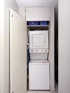 Akahi D612 provides a washer and dryer for your convenience.