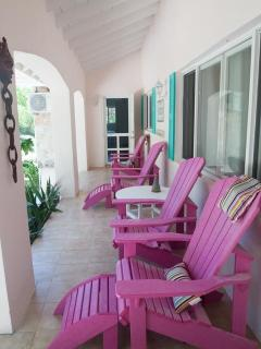 Front porch -  Comfortable adriondack chairs