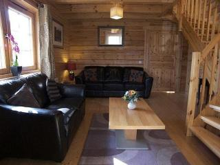 Luxury Lomond Lodge - Charming pine lined lodges, 3 bedrooms with luxury Hot Tub - Loch Lomond, Gartmore