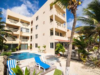 Fabulous beachfront condo with pool and onsite restaurant, Akumal