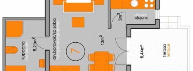 SA3(2+1): floor plan