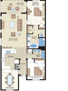 Unit's floorplan