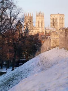York in the snow