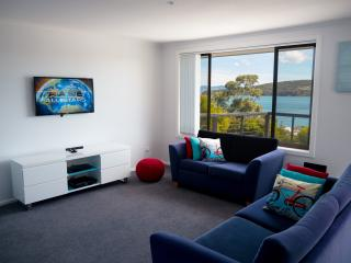 Enjoy the view of the bay from the lounge whilst you watch the 40 inch TV