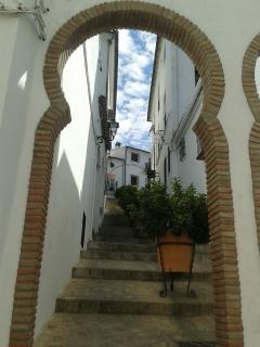 Moorish arch in the nearby village of Zahara